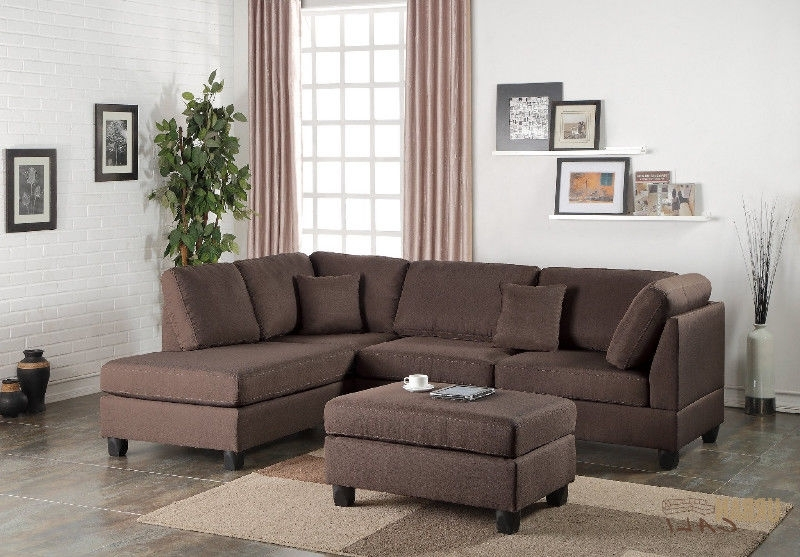 Recent Linen Sectional Sofa With Ottoman! Free Delivery In Nanaimo With Nanaimo Sectional Sofas (View 8 of 10)
