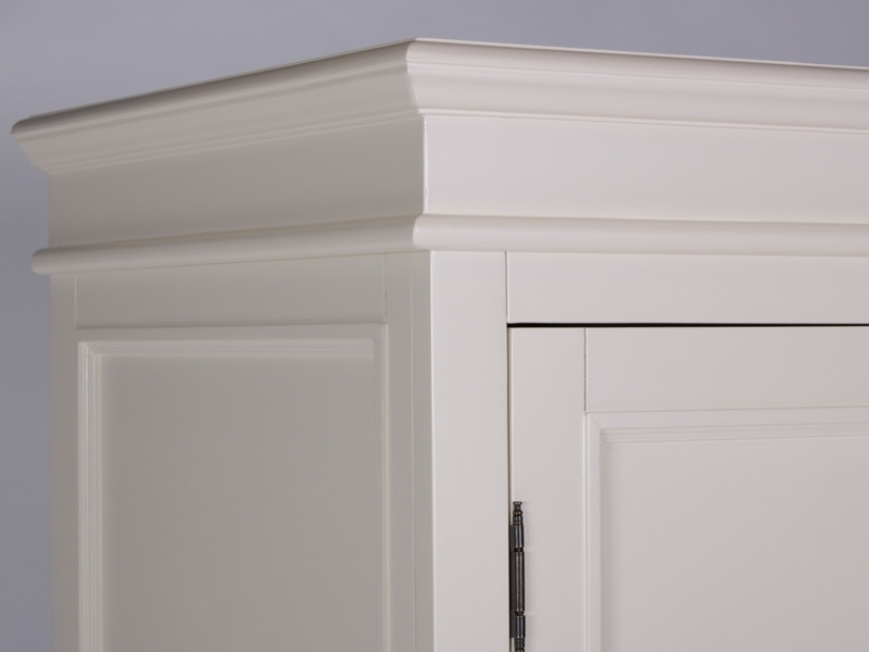 Recent London Cream Painted Double Wardrobe With 2 Doors And 4 Drawers With Cream Triple Wardrobes (View 12 of 15)