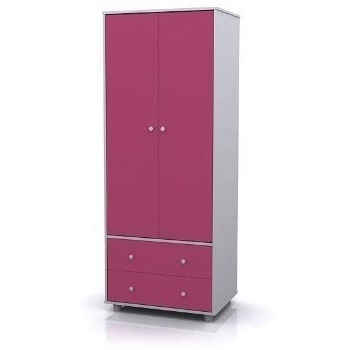 Recent Miami Pink And White Childrens 2 Door Wardrobe: Amazon.co (View 12 of 15)