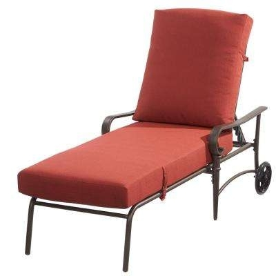 Recent Outdoor Metal Chaise Lounge Chairs Within Outdoor Chaise Lounges – Patio Chairs – The Home Depot (View 2 of 15)