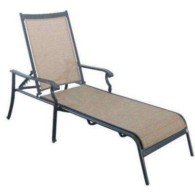 Recent Patio Chaise Lounges With Regard To Black – Outdoor Chaise Lounges – Patio Chairs – The Home Depot (View 11 of 15)