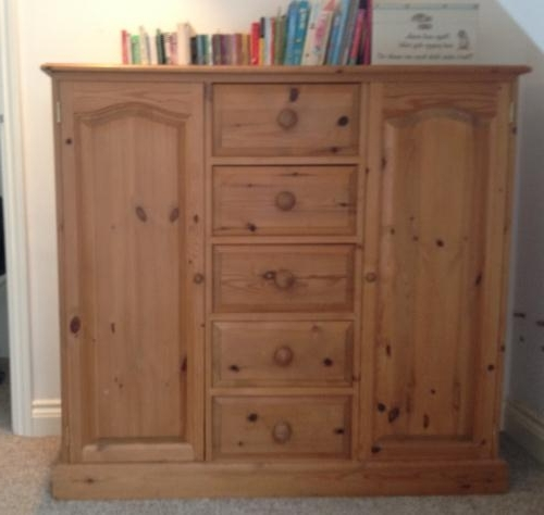 Recent Pine Tallboy Childrens Wardrobe 2 Door 5 Drawer 20150218155147 Pertaining To Childrens Tallboy Wardrobes (View 11 of 15)