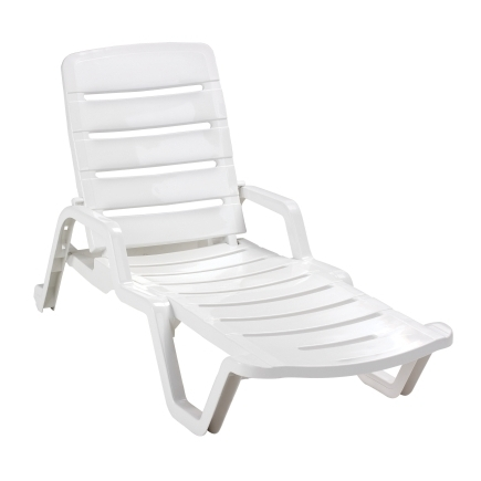 Recent Plastic Chaise Lounge Chairs For Outdoors Pertaining To Adams Resin Chaise Lounge At Ace Hardware (View 13 of 15)