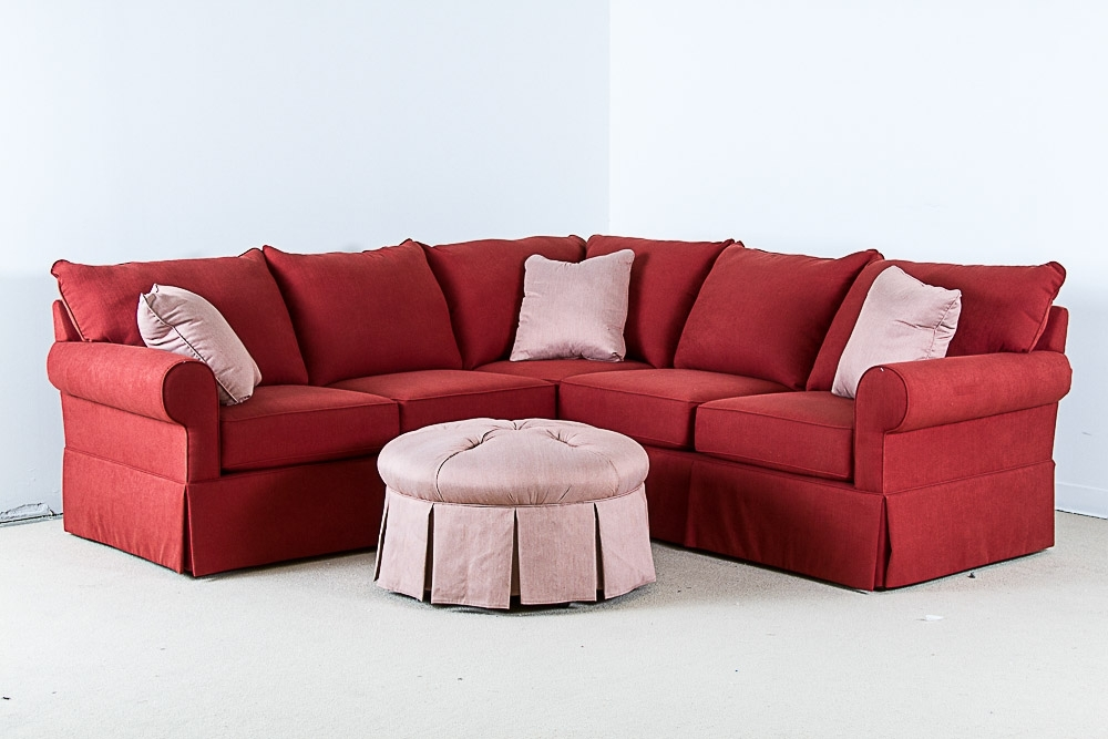 Recent Red Sectional Sofas With Ottoman Pertaining To Sofa Beds Design: Mesmerizing Ancient Small Red Sectional Sofa (View 8 of 10)