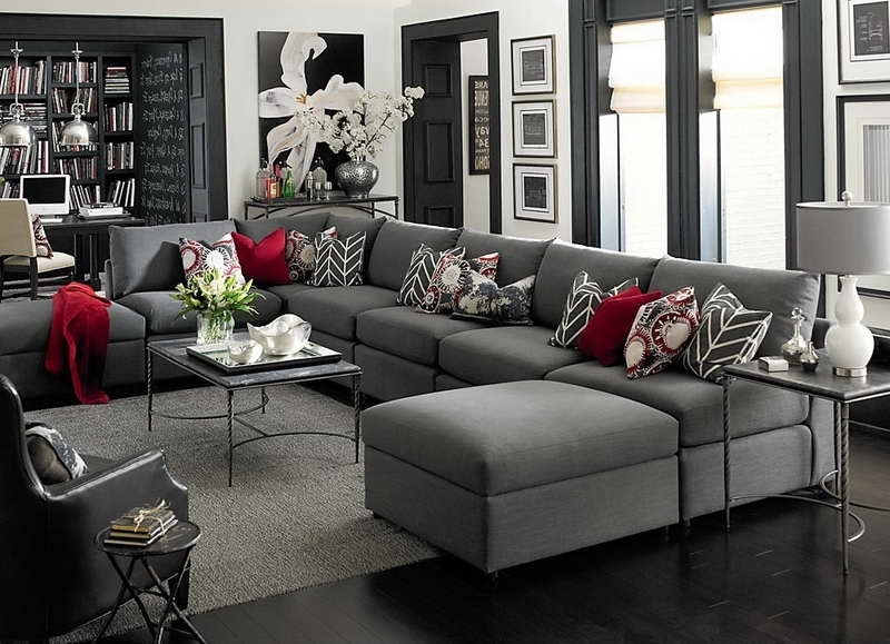 Recent Sectional Sofa Design: Adorable Large U Shaped Sectional Sofa Pertaining To Gray U Shaped Sectionals (View 9 of 10)