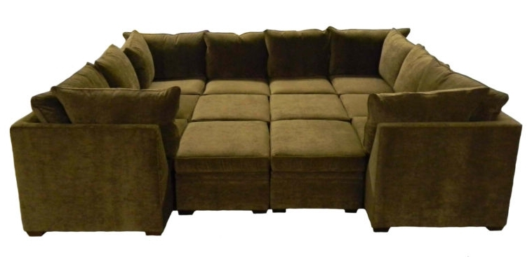 Recent Sectional Sofas Large Sofa With Ottoman Regard To Idea 11 Within Sofas With Large Ottoman (View 6 of 10)