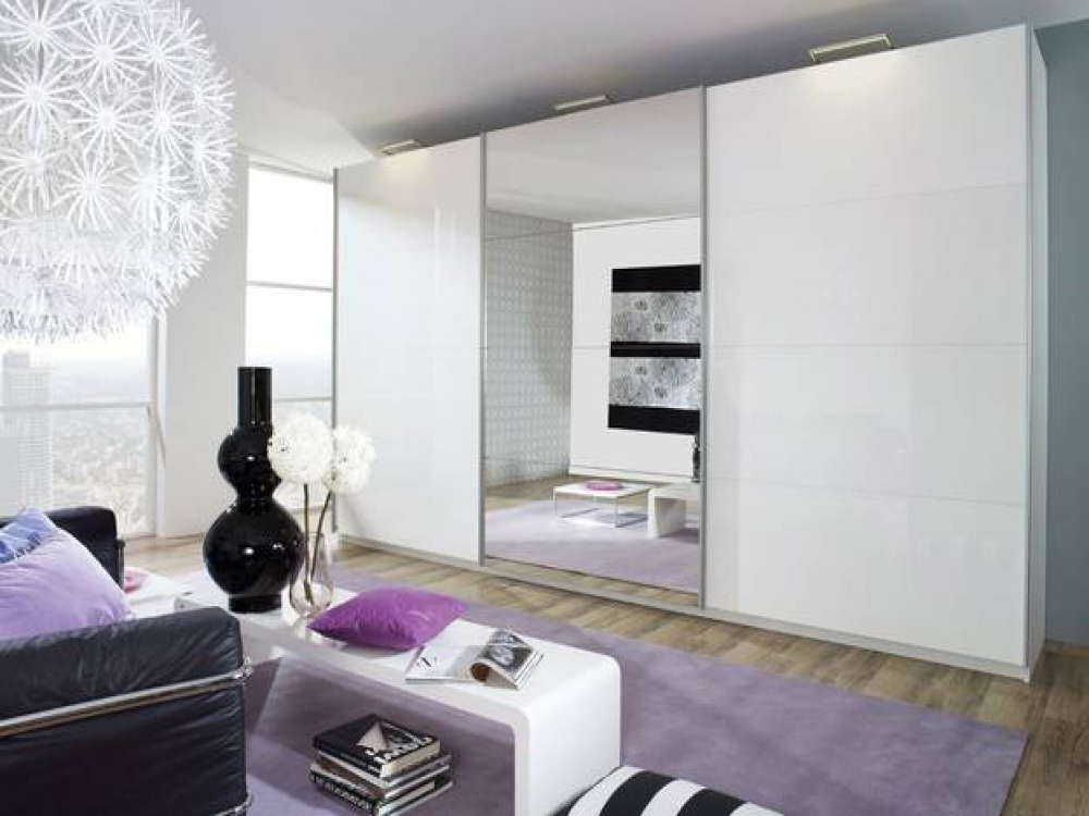 Recent White Gloss Mirrored Wardrobes Pertaining To Beluga Plus White Gloss & Mirrored Sliding Wardrobe (View 12 of 15)