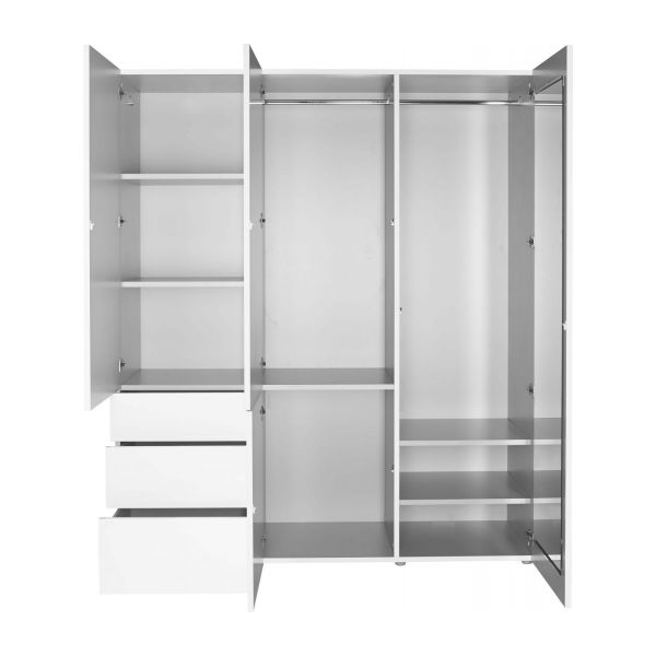 Recent White High Gloss Wardrobes For Perouse – High Gloss Wardrobe With 3 Doors – Habitat (View 10 of 15)