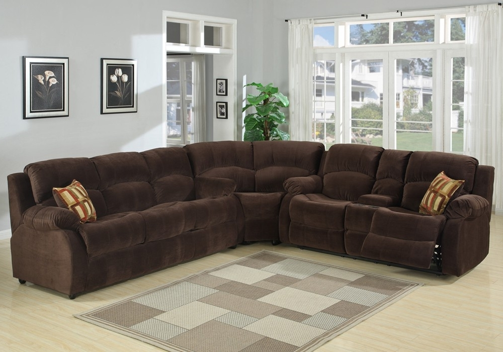 Recliner Sleeper Sectional Sofa Pertaining To Trendy Microfiber Sectional Sofas (View 8 of 10)