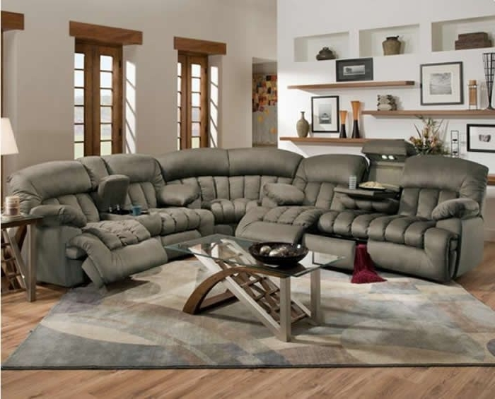 Reclining Sectional Sofas In Most Current Lovely Reclining Sectional Couches 54 Contemporary Sofa (View 5 of 10)