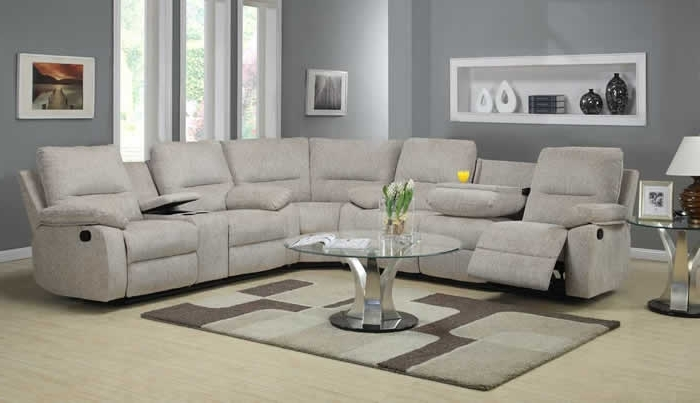 Reclining Sectional Sofas Inside Famous Sectional Sofa Design: Wonderful Recliner Sectional Sofa Sofa With (View 6 of 10)