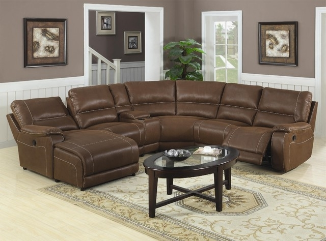 Reclining Sectionals With Chaise Pertaining To Preferred Sectional Sofa Design: Wonderful Recliner Sectional Sofa Leather (View 3 of 15)