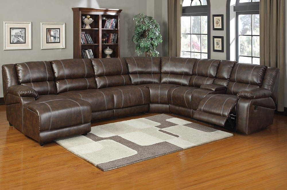 Reclining Sectionals With Chaise Throughout Fashionable Sectional Sofa Design: Comfortable Reclining Sectional Sleeper (View 11 of 15)