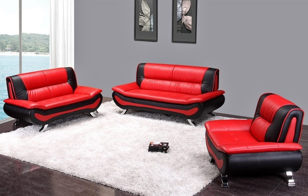 Featured Photo of Red And Black Sofas