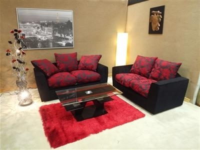 Red And Black Sofas With Recent Samantha 3&2 Sofa Set – Noct Offs (View 10 of 10)