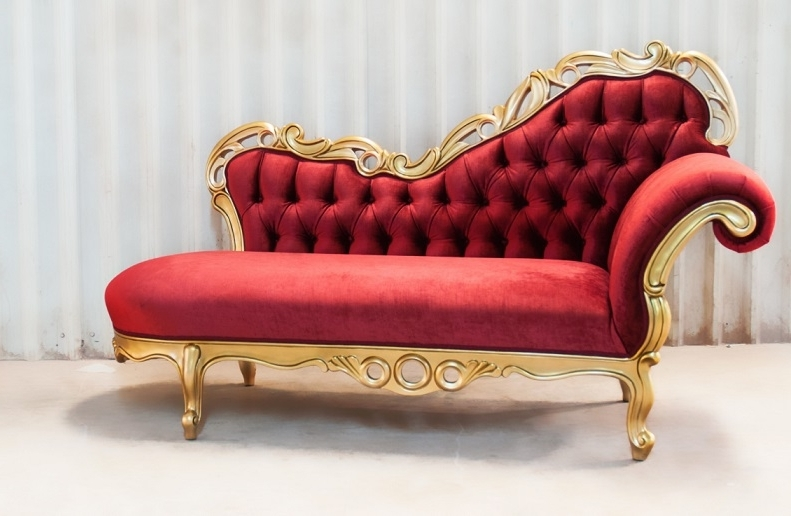 Red Chaise Lounges For Recent Lovable Victorian Chaise Lounge Victorian Chaise Lounge  (View 10 of 15)