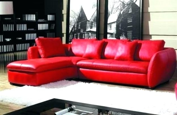 Red Faux Leather Sectionals Within Favorite Modern Red Leather Sectional Sofa With Chair Modern Living Red (View 3 of 10)