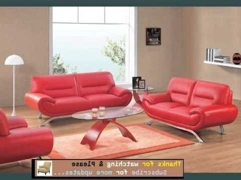 Red Leather Couches For Living Room In Popular Sofa Designs And Collection (View 7 of 10)
