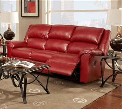 Red Leather Reclining Sofas And Loveseats In Newest Chelsea Home Arundel Reclining Sofa In Sierra Red Leather (View 6 of 17)