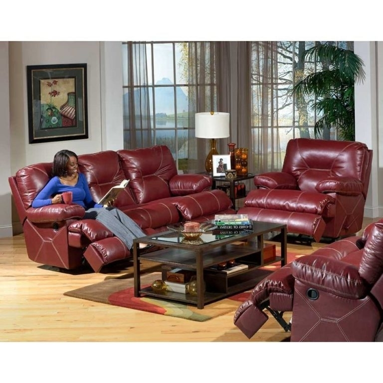 Red Leather Reclining Sofas And Loveseats Pertaining To Favorite Outstanding Red Leather Reclining Sofa And Loveseat 97 With (View 4 of 17)