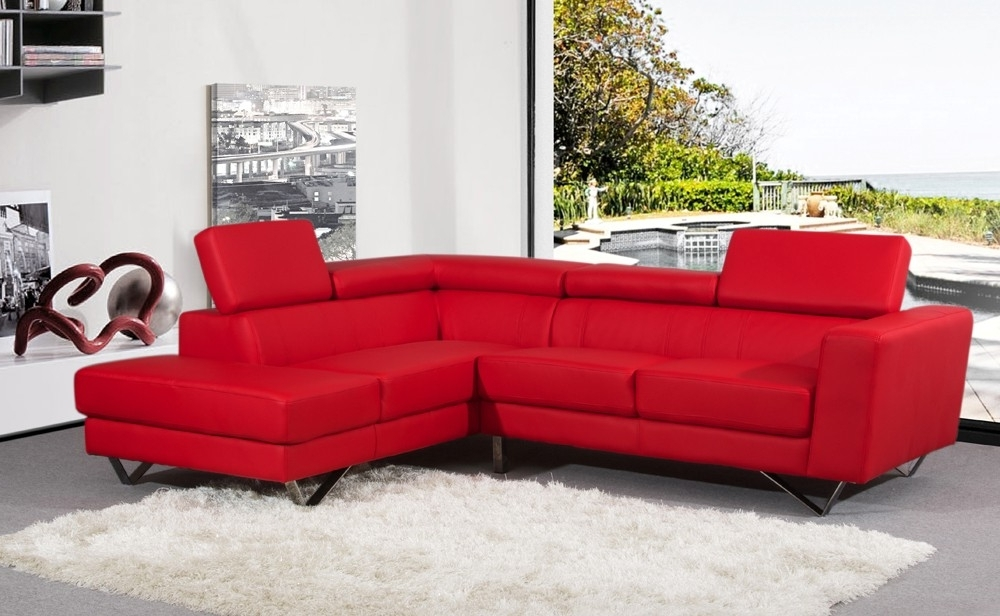 Red Leather Sectional Couches In Well Liked Sofa Beds Design: Mesmerizing Ancient Small Red Sectional Sofa (View 4 of 10)
