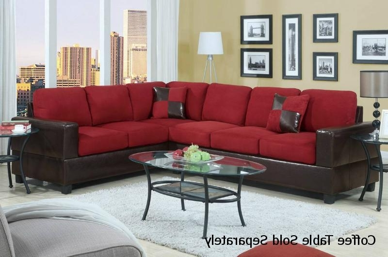Red Leather Sectional Sofa – Steal A Sofa Furniture Outlet Los Inside Newest Red Leather Sectional Couches (View 7 of 10)