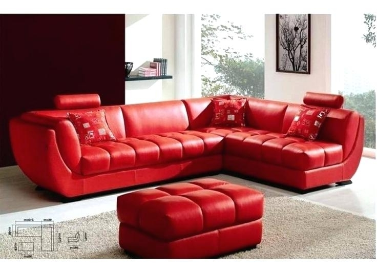 Red Leather Sectionals With Chaise In Famous Modern Red And Black Bonded Leather Sectional Astra Leather Red (View 6 of 10)