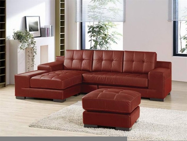 Red Leather Sectionals With Chaise With Regard To Most Recent Sectional Leather Sofas And Also Leather Sectional Sofa With (View 7 of 10)