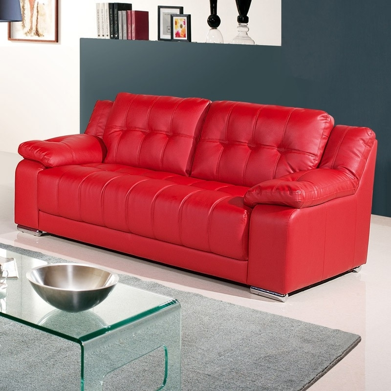Red Leather Sofas With Regard To Most Current Why You Should Get A Red Leather Sofa – Elites Home Decor (View 10 of 10)