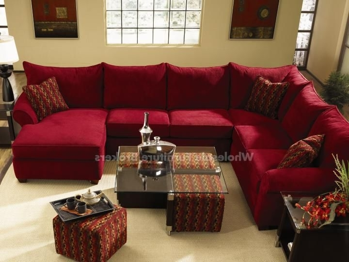 Red Sectional Sofas With Ottoman Pertaining To Most Up To Date Diggin' The Red Sectional And The Coffee Table With The Pull Out (View 5 of 10)