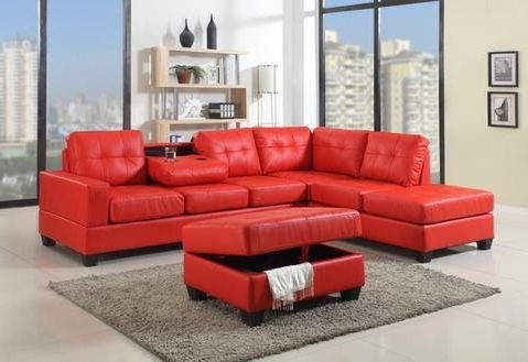 Red Sectional W/ottoman (Furniture) In Lancaster, Pa – Offerup Inside Best And Newest Lancaster Pa Sectional Sofas (View 7 of 10)