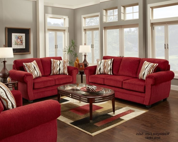 Red Sofa Chairs In Preferred Living Room (View 6 of 10)
