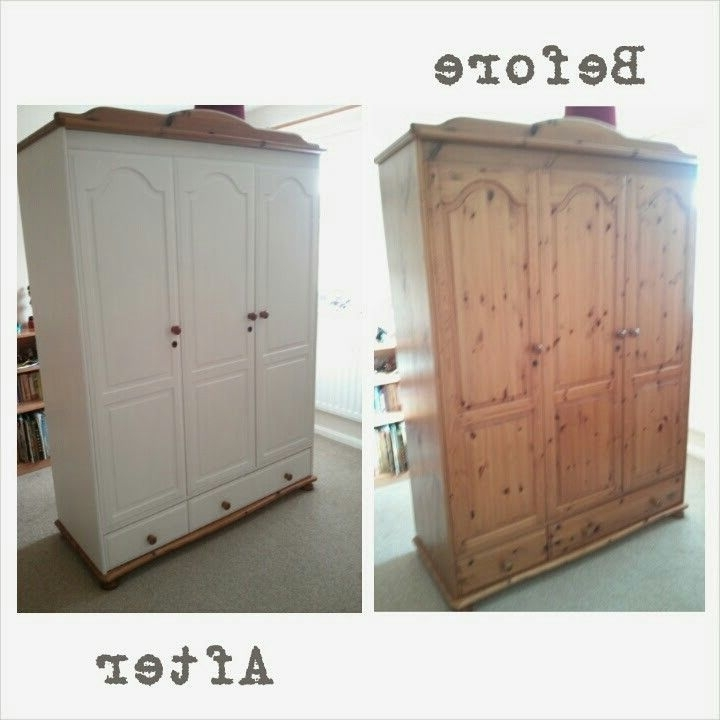 Featured Photo of White And Pine Wardrobes
