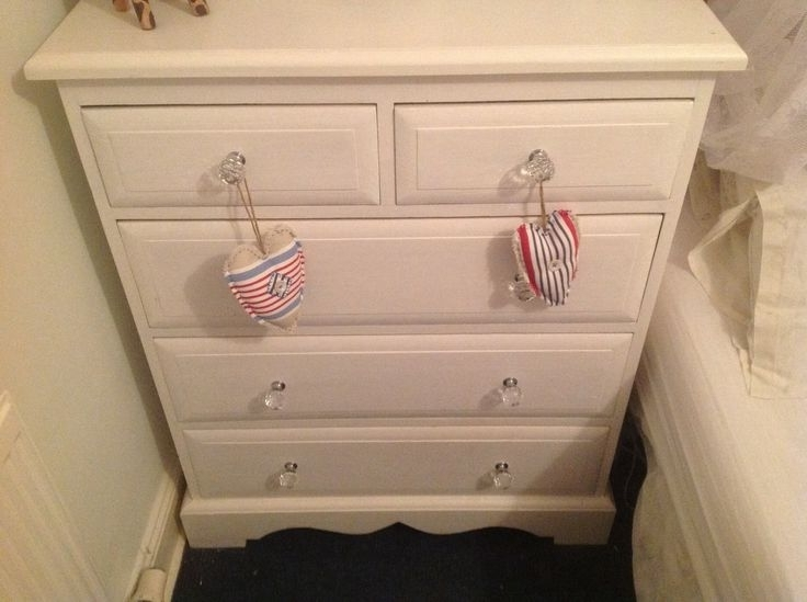 Renovated Pine Wardrobe And Drawers In White Eggshell Paint And With Regard To 2018 White Pine Wardrobes (View 15 of 15)