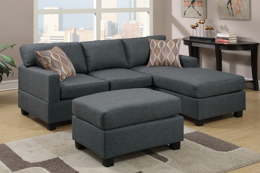 Reversible Chaise Sofas For Well Known Grey Sectional Sofa With Chaise (View 6 of 15)
