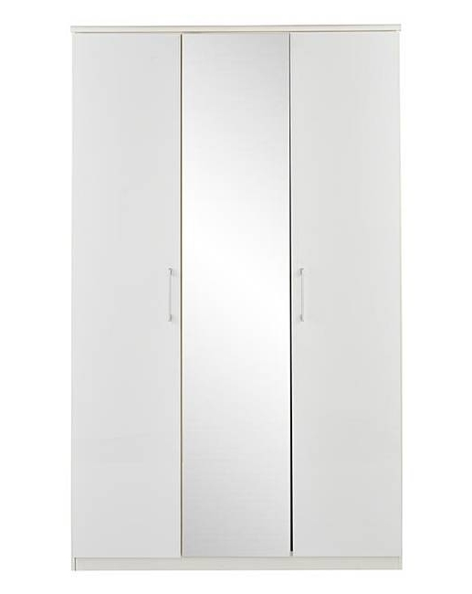 Riga Gloss 3 Door Wardrobe With Mirror (View 6 of 15)