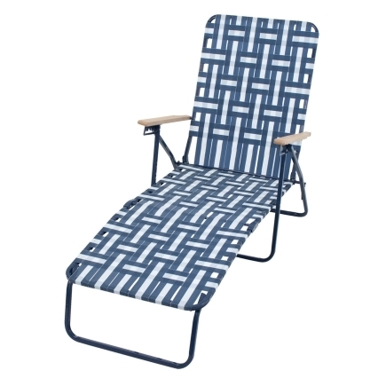 Rio Brands Web Chaise Lounge Adjustable Backrest Steel 240 Lb Intended For Fashionable Web Chaise Lounge Lawn Chairs (View 10 of 15)