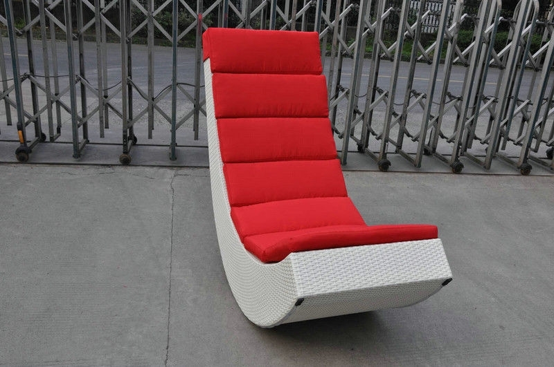 Rocking Sofa Chairs Inside Well Known Rattan Rocking Chair , Aluminum Frame Comfortable Rocking Sofa (View 8 of 10)
