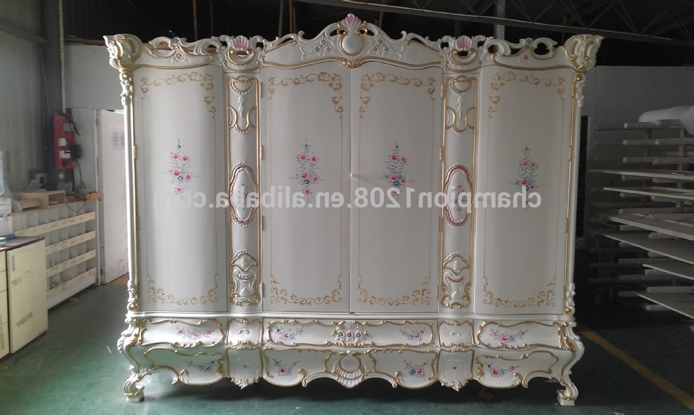 Rococo Wardrobes Throughout Famous Champion Brand Customized Rural Style Furniture,rococo Style (View 13 of 15)