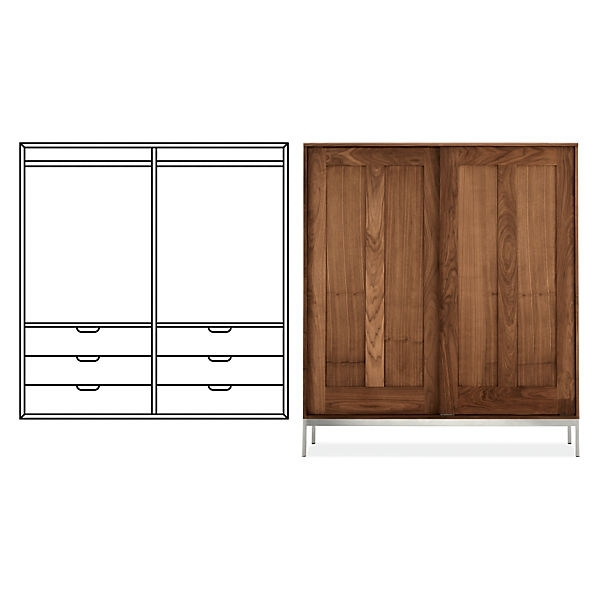 Room & Board – Linear Anywhere Armoire With Double Short Wardrobes In Famous Short Wardrobes (View 7 of 15)