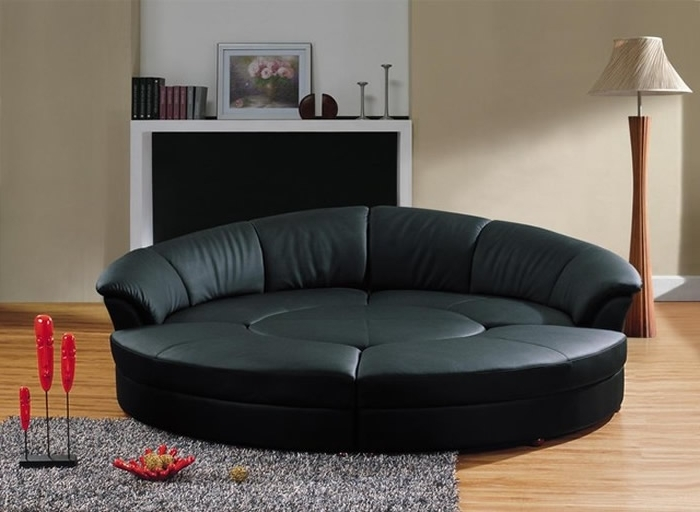 Round Sectional Sofas Throughout Best And Newest Sectional Sofa Design: Rounded Sectional Sofa Covers Bed Sale (View 7 of 10)