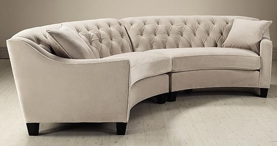 Rounded Sofas Within Latest Riemann Curved Tufted Sectional – Sofas And Loveseats – Living (View 9 of 10)