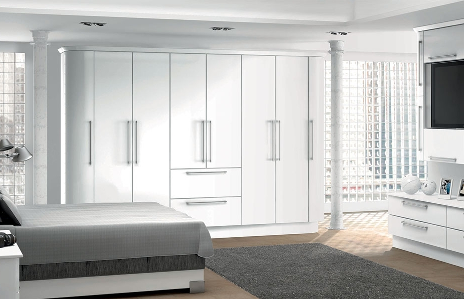 Row Of Full Length High Gloss White Storage Cupboards – Google Throughout Well Liked White Gloss Wardrobes Sets (View 11 of 15)