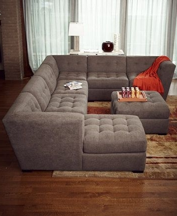 Roxanne Fabric Modular Living Room Furniture Collection, Only At Within Fashionable Macys Sectional Sofas (View 8 of 10)