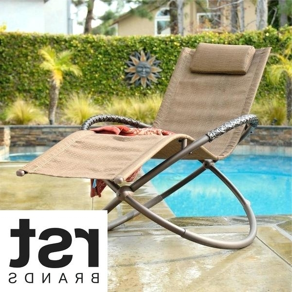 Rst Luis Orbital Zero Gravity Chaise Patio Lounger Mainstays Orbit With Regard To Newest Zero Gravity Chaise Lounge Chairs (View 8 of 15)