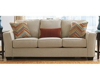 Sam Levitz Sectional Sofas Pertaining To Well Known Contemporary Sofa In Neutral Sand Color – Sam Levitz Furniture (View 9 of 10)