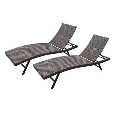 Sam's Club Outdoor Chaise Lounge Chairs Regarding Newest Member's Mark® Heritage 2 Pack Chaise Lounges (View 11 of 15)