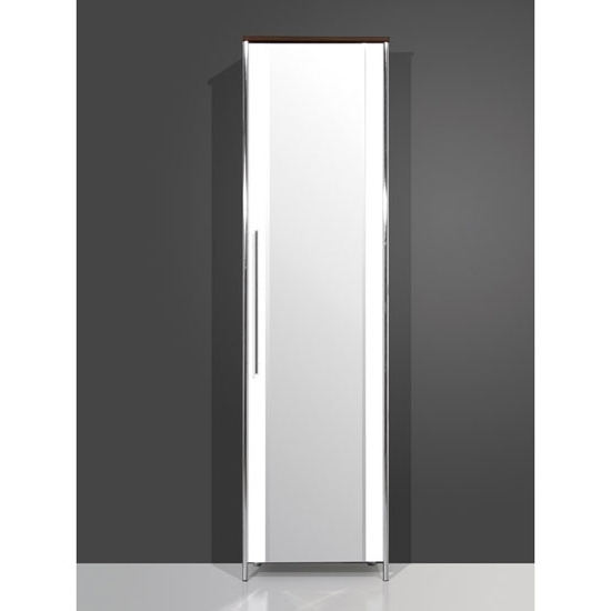 Featured Photo of Single White Wardrobes With Mirror