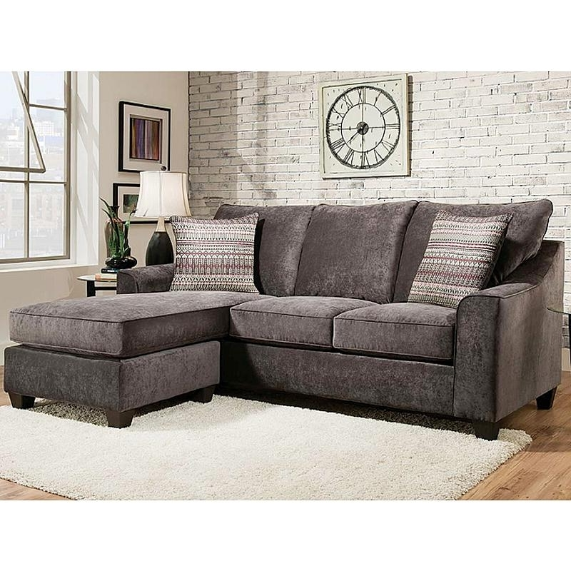Sears Sectional Sofas Throughout Widely Used American Furniture Elizabeth Charcoal Sectional Sofa (View 10 of 10)