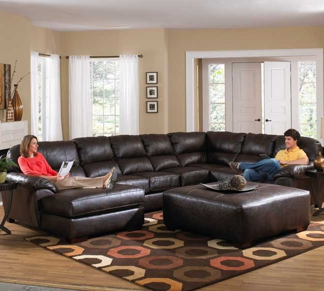 Sectional Chaises For Current Latest Leather Sectional Sofa Chaise Jackson Lawson 4243 Sectional (View 4 of 15)